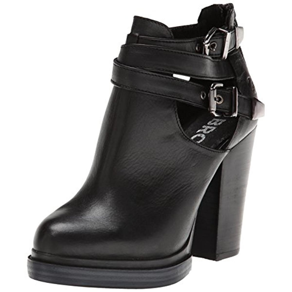 Bronx Womens Cherry Top Leather Cut-Out Motorcycle Boots by Bronx