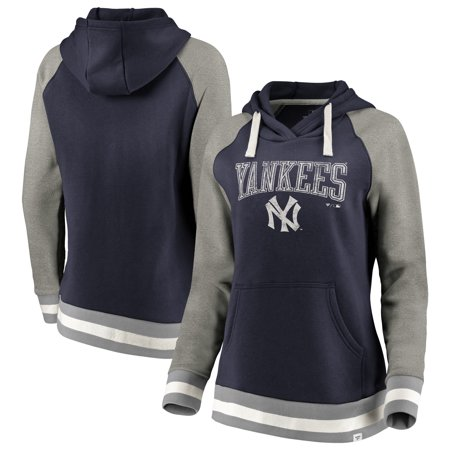 New York Yankees Fanatics Branded Women s True Classics Stripe Pullover  Hoodie - Navy - Walmart.com c4a488d07