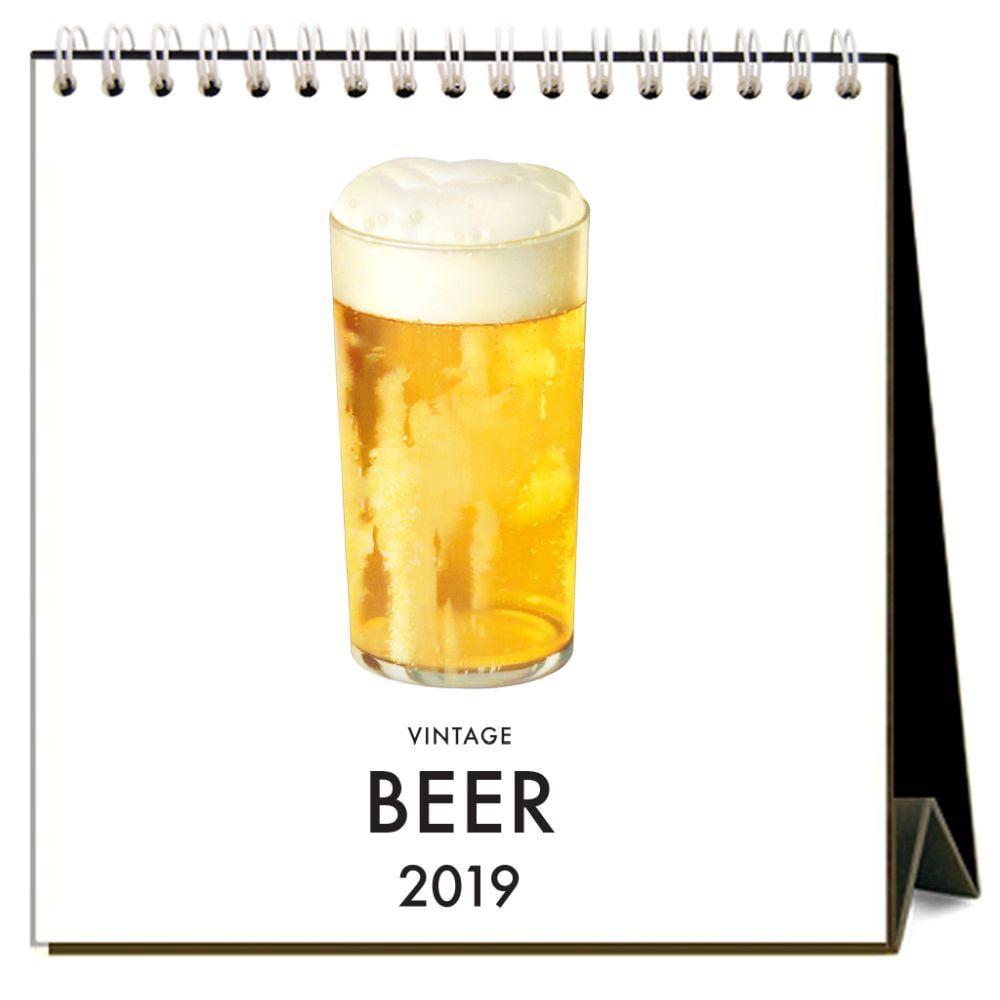 2019 Beer 2019 Easel Desk Calendar, Wine, Beer & Spirits by Found IMage Press by Found Image Press