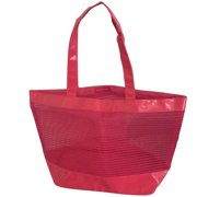 Nordstrom Large Neon Hot Pink Beach Tote Bag