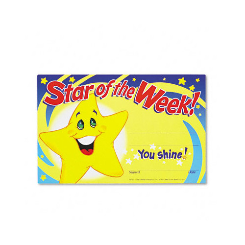 Trend Enterprises Star of The Week Recognition Award (Set of 2)