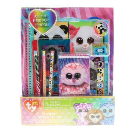 852b2a66fb7 TY Beanie Boos Kids Stationery Set Folders Pencils Ruler Notebook Girls  School - Walmart.com