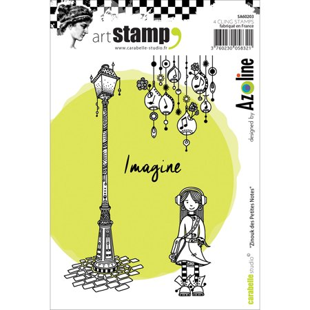 Carabelle Studio Cling Stamp A6-Zinouk Of The Little Notes, Pk 1