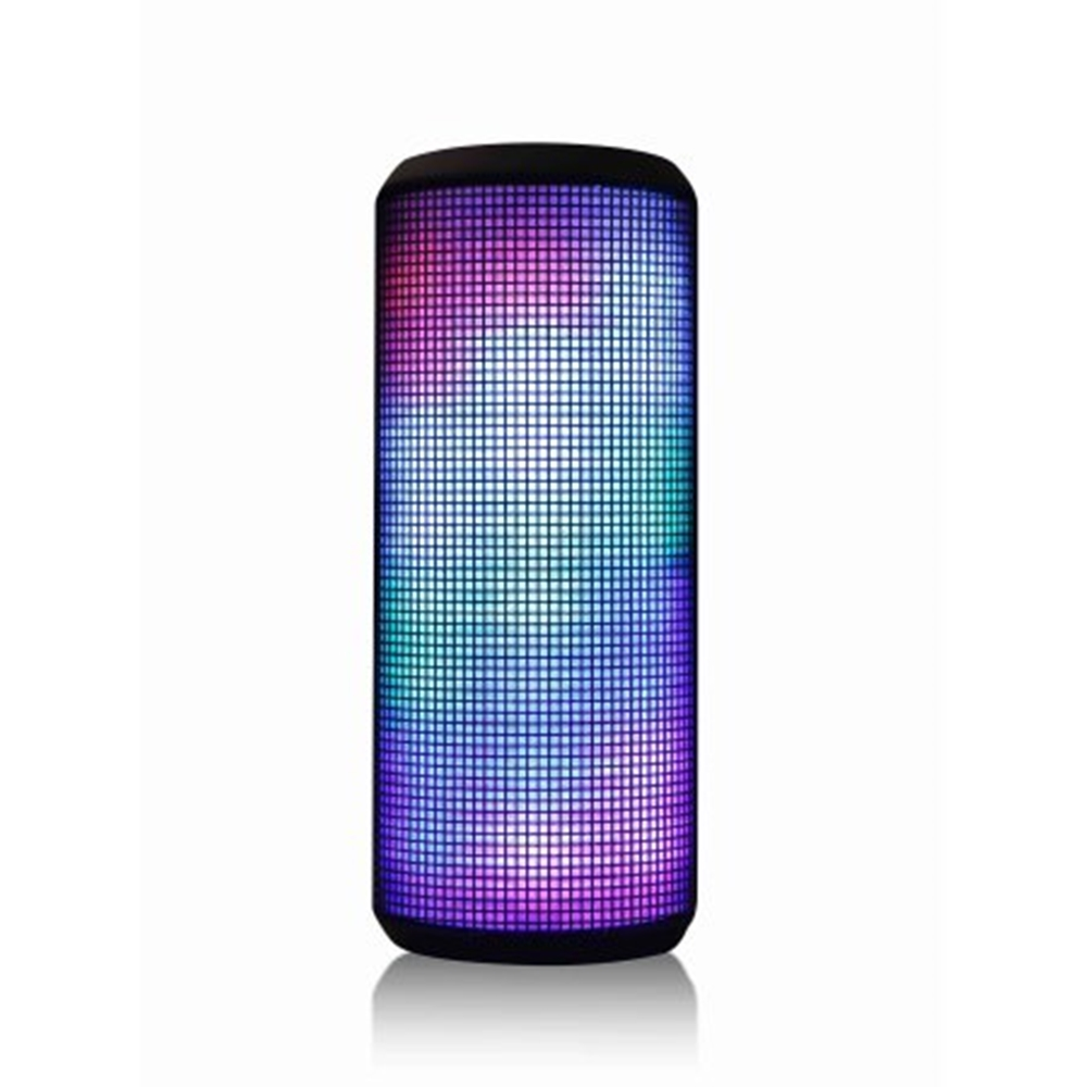 Blackweb Color-Changing Portable Rechargeable Bluetooth Wireless Speaker System with Multi-Colored LED Lights (Open Box - Like New)