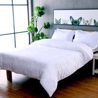 Modern Bedroom 3pc Duvet Cover 100% Cotton Sateen with 3M Moisture Management & Stain Release Treatment