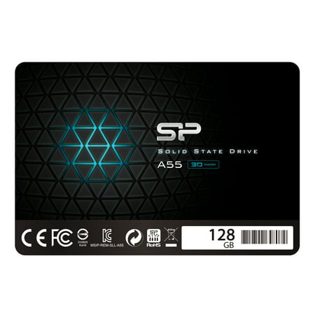 128 Gb 2.5 Ssd - Silicon Power 128GB SSD 3D NAND With R/W Up To 560/530MB/s A55 SLC Cache Performance Boost SATA III 2.5