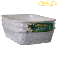 Kitty Wonder Box Litter Pan / Liner 3 Pack - 17L x 12W x 4.5H - Pack of 10