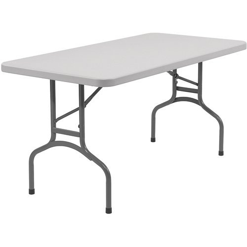 National Public Seating BT Series 96 in. Rectangle Folding Table - Speckled Grey