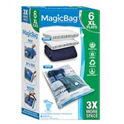 MagicBag® Original Flat Instant Space Saver Storage - Extra Large - Double Zipper - 6 Pack