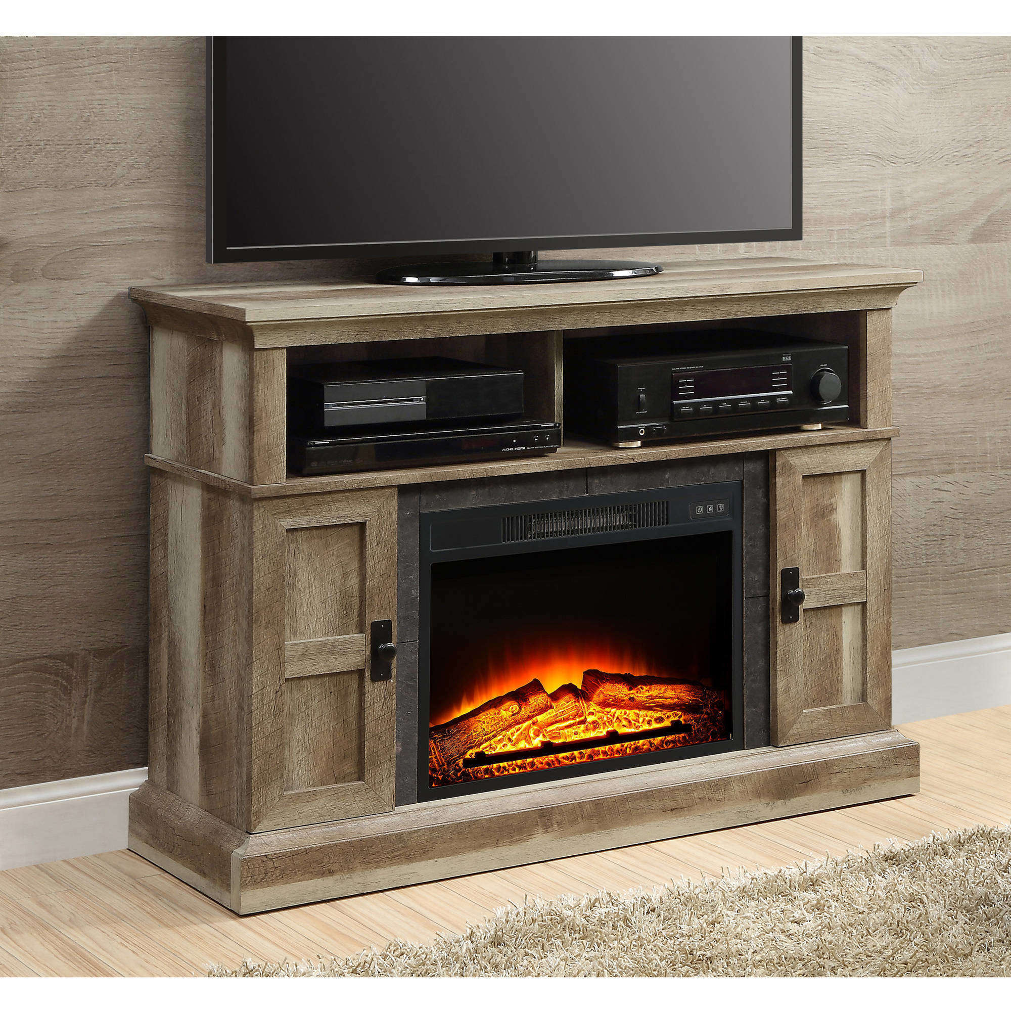 Whalen Media Fireplace Console for TVs up to 55""