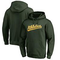 Oakland Athletics Fanatics Branded Wordmark Big and Tall Pullover Hoodie - Green