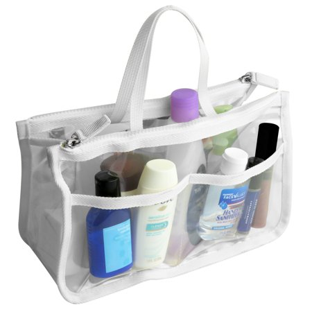 Ultra Clear Pouch (Evelots Clear Cosmetic Purse, Double Zipper Hand Pouch Bag In Bag Organizer )