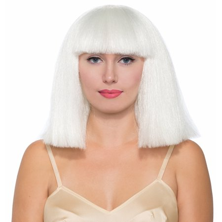 White Pop Costume Wig Adult Women (White Wig Costume)