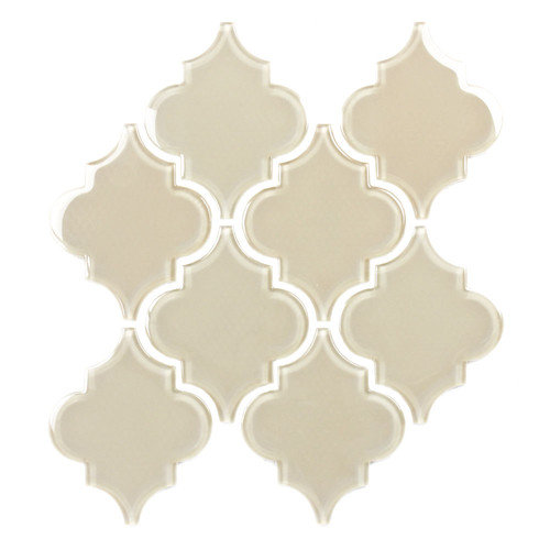 Giorbello Water Jet 3.9'' x 4.7'' Glass Mosaic Tile in Ornamental Wood Ash