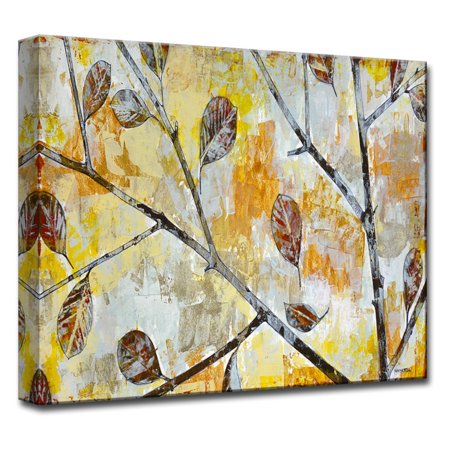 Ready2HangArt Wind Tossed Autumn Leaves Canvas Wall Art ()