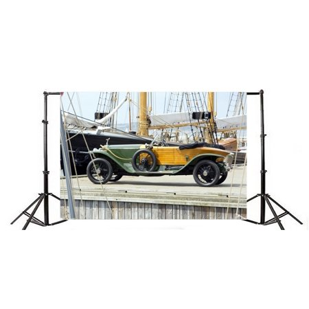 EREHome Polyester Fabric Roadster Backdrop 7x5ft Photography Background Wharf Deck Rope Photos Video Studio Props - image 3 of 3