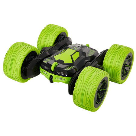 KARMAS PRODUCT RC Cars Off-Road, 4WD Remote Control Monster Truck Rotate 360 Double Sided Race Car/Green - Rake Monster
