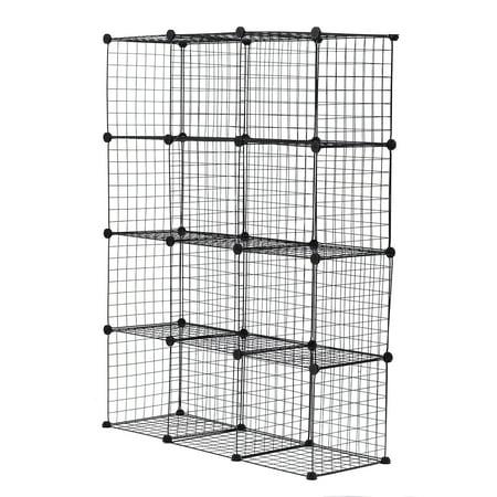 Asewin Cube Storage 8/12-Cube Bookshelf Closet Organizer Storage Shelves Organizer Bookcase DIY Square Closet Cabinet Shelves for Home Office
