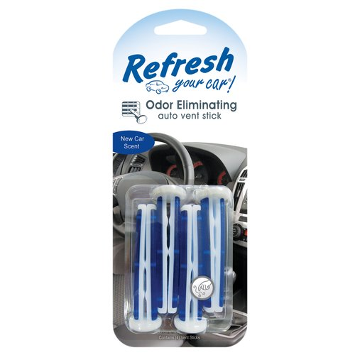 Refresh Your Car Scented Vent Stick New Car , 4-Pack
