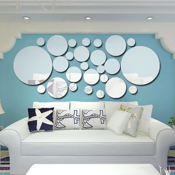26pcs Mirror Stickers Removable Acrylic, Decorative Wall Mirror Stickers