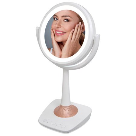 - QFX R-72 Lighted LED Mirror & Wireless Speaker