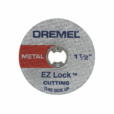 Mandrel Bolt (Dremel EZ456 1-1/2 inch EZ Lock Metal Cut-Off Wheels for EZ402 EZ Lock Mandrel, 5-Pack )