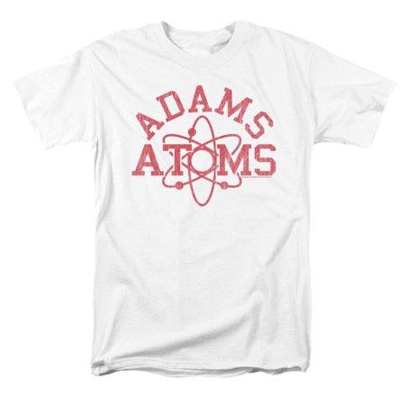 Revenge Of The Nerds Men's  Adams Atoms T-shirt White (Trendy Nerd)