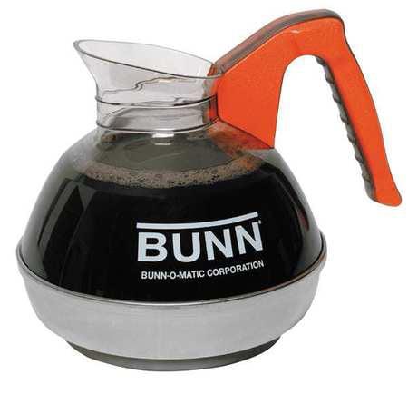 Bunn Orange Pourover Decanter, 64 oz, EASY POUR
