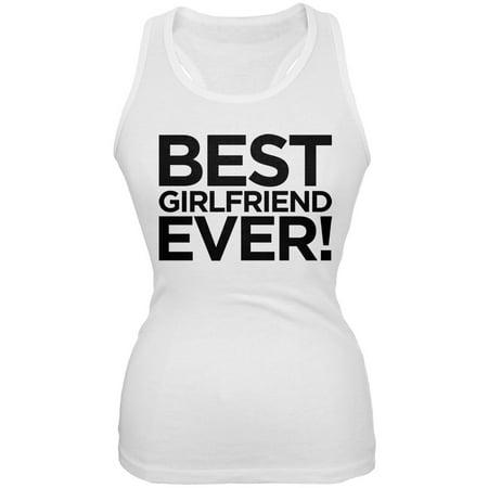 Best Girlfriend Ever White Juniors Soft Tank Top