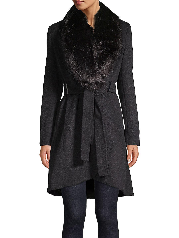 Petite Faux-Fur Collar Jacket