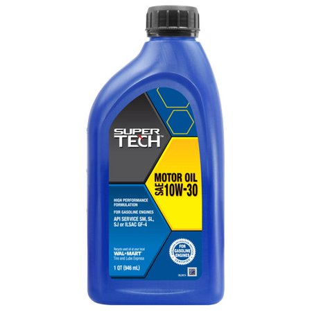 Supertech 10w30 Motor Oil 1 Quart