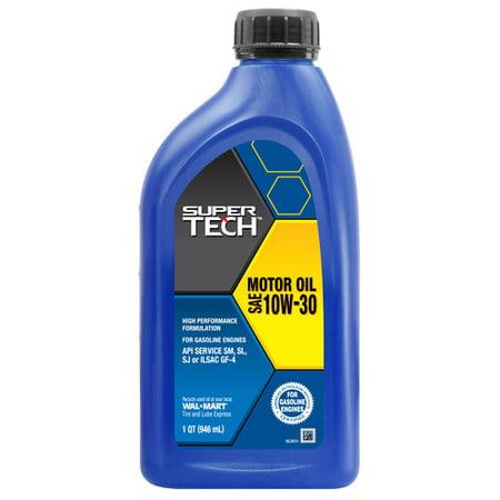 Supertech 10w30 motor oil 1 quart for How long does motor oil last