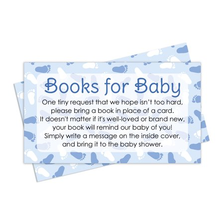 baby shower request cards blue boy theme set of 20