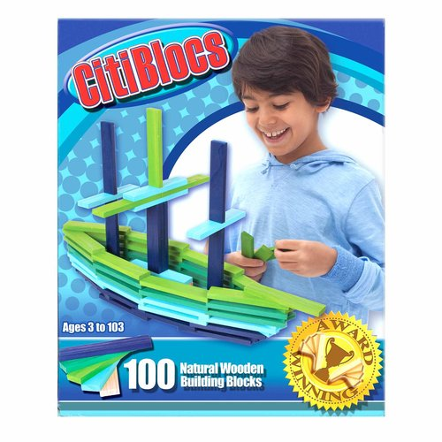 CitiBlocs 100-Piece Cool-Colored Building Blocks