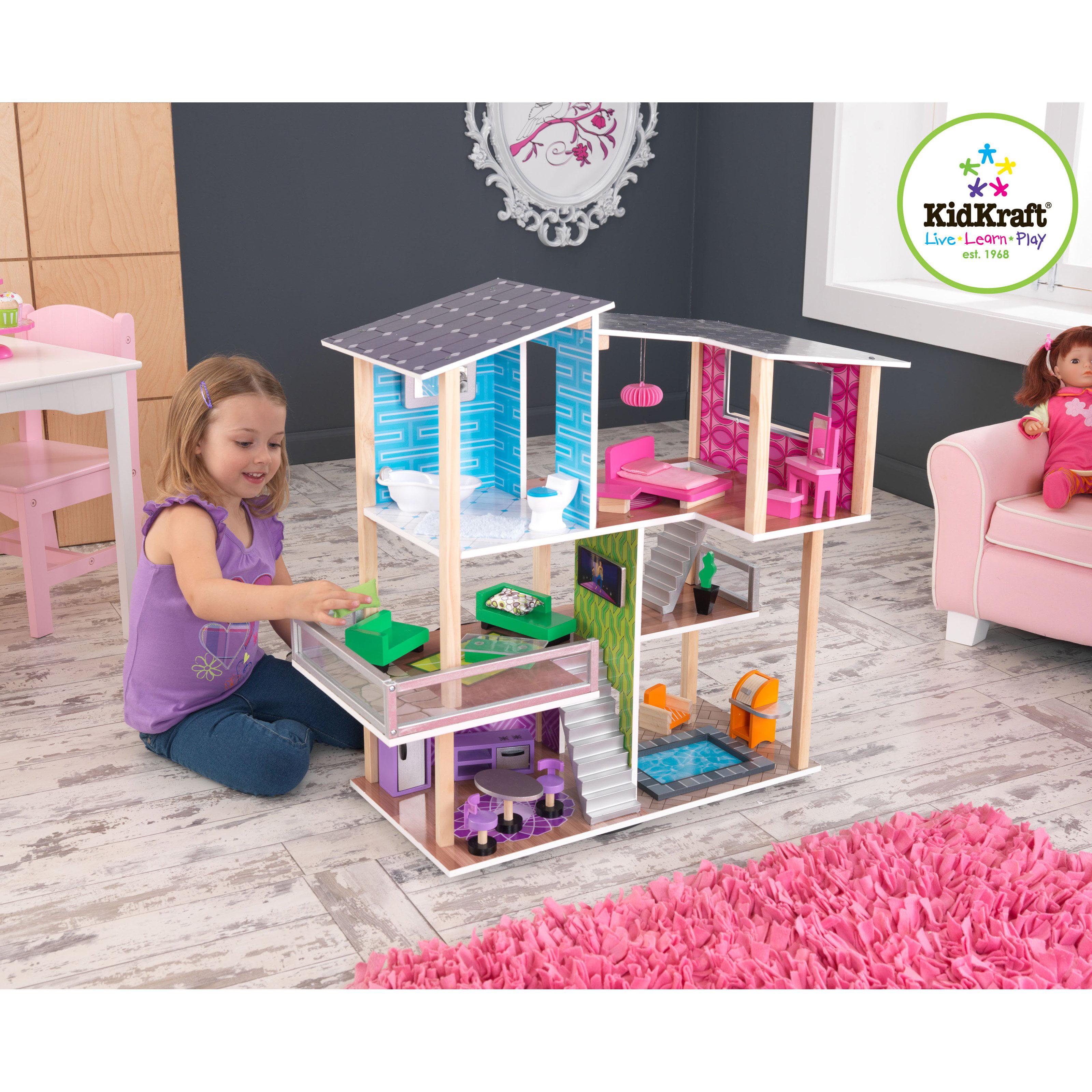 KidKraft Modern Living Dollhouse 65822 Walmartcom