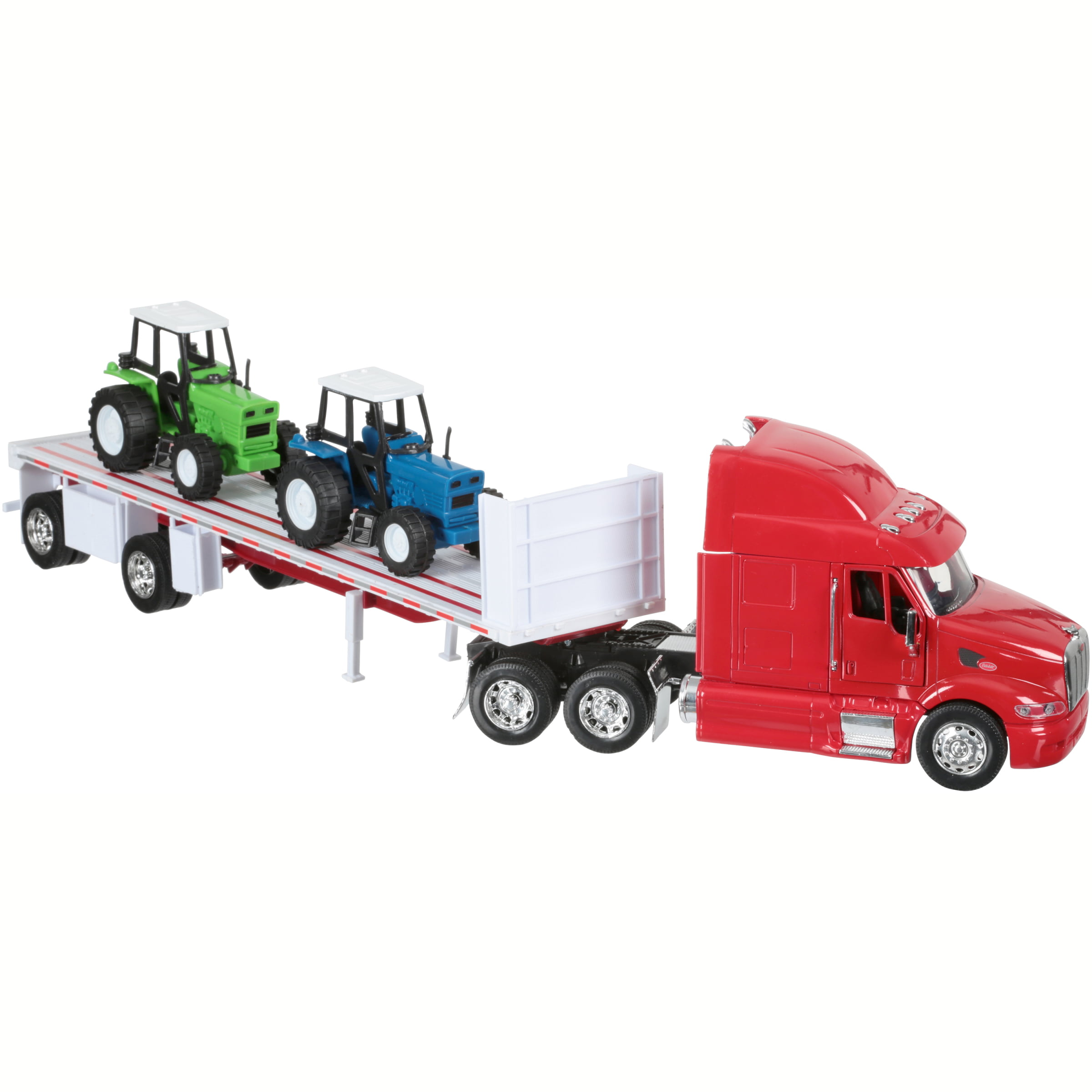 1:32 Scale Die-Cast Peterbilt 387 Flatbed Tractor Trailer