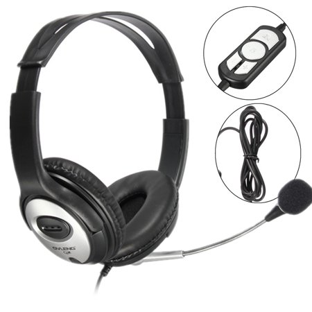OVLENG USB Headset Computer Headset with Microphone Noise Cancelling, Lightweight PC Headset Wired Headphones, Business Headset for Skype, Webinar, Phone, Call