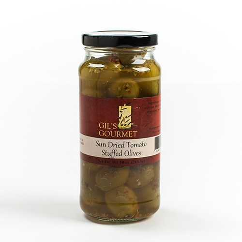 Sun Dried Tomato Stuffed Olives by Gil's Gourmet