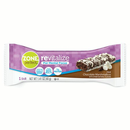 Zoneperfect Revitalize Energy Bars  With Caffeine For Mental Focus  Hot Chocolate Marshmallow  1 41 Oz   Pack Of 5