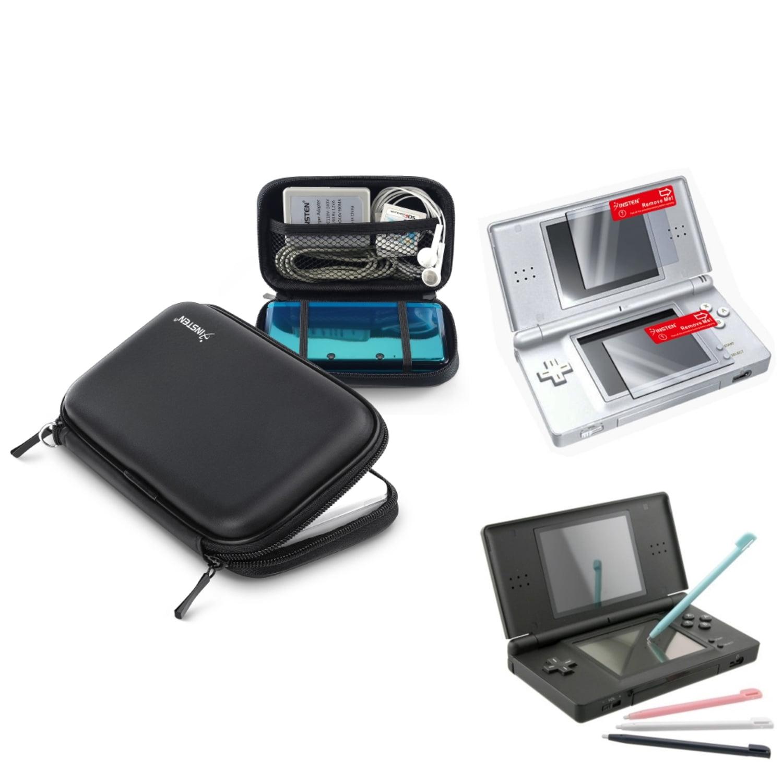 Insten Black EVA Case+4 Color Stylus+2-LCD Screen Protector For Nintendo DS Lite