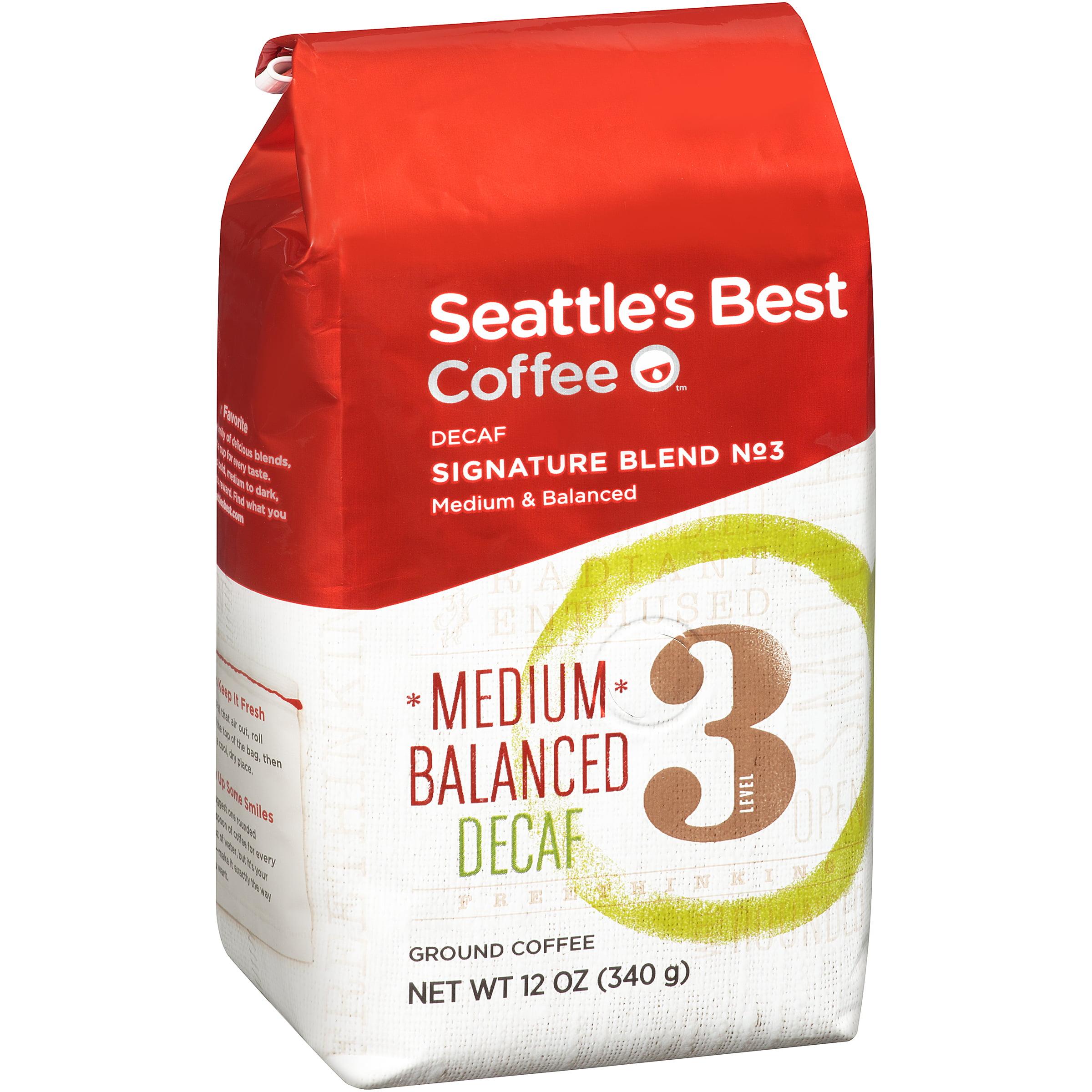 Seattle's Best Coffee��� Medium & Balanced Decaf Signature Blend No. 3 Ground Coffee 12 oz. Bag