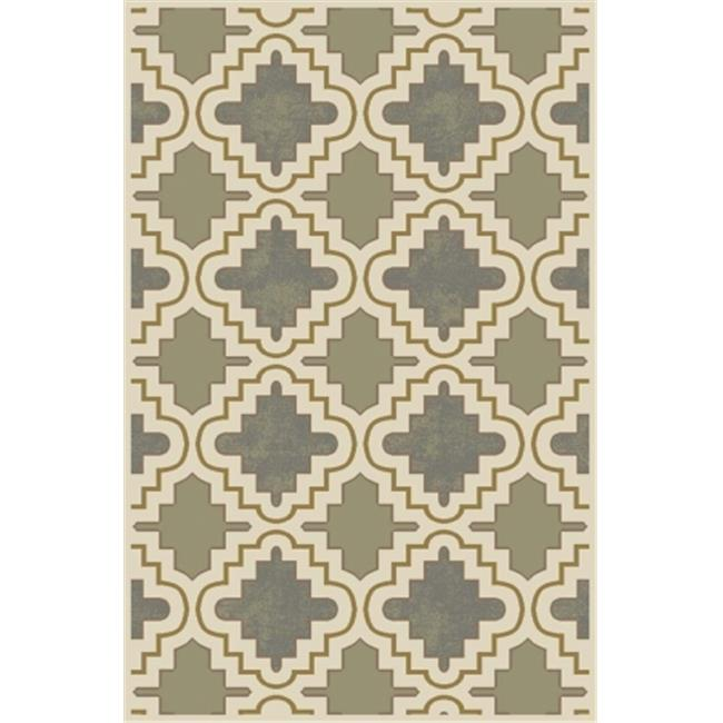 Central Oriental 9005PE80.061 Paris Citron 061 Fillmore 100 Percent Heat Set Polypropylene Rug, Pearl - 7 ft. 10 in. x 9 ft. 10 in.