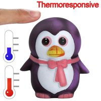 Thermal Heat Induction Temperature Color Change Squishies Penguin Slow Rising