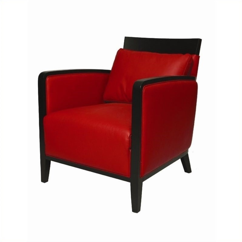 Pastel Furniture Elloise Leather Club Chair in Red by Pastel Furniture