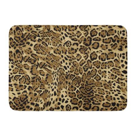JSDART Orange Skin Leopard Patterns Cheetah Jaguar Abstract White Doormat Floor Rug Bath Mat 23.6x15.7 inch - image 1 of 1