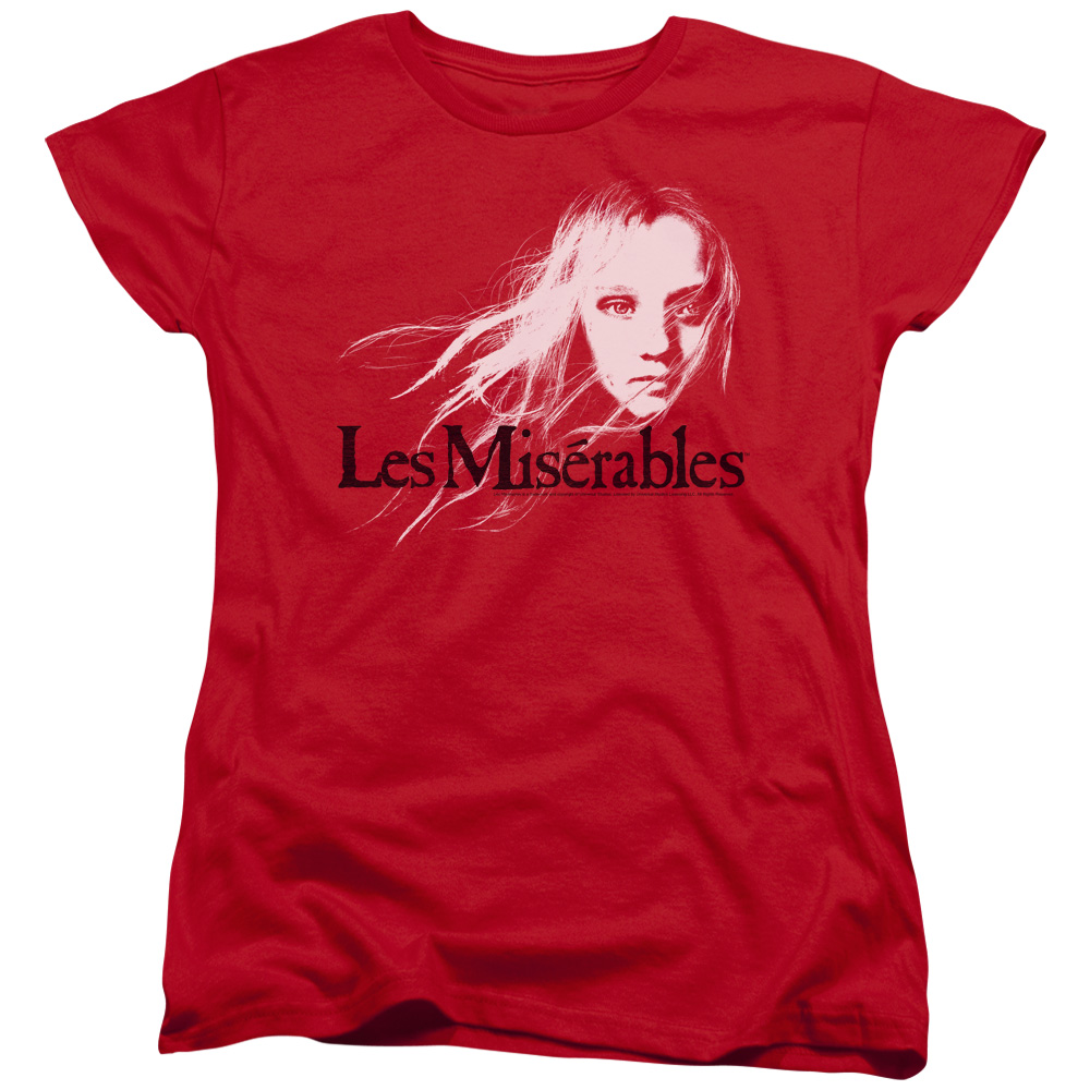 Les Miserables Textured Logo Womens Short Sleeve Shirt