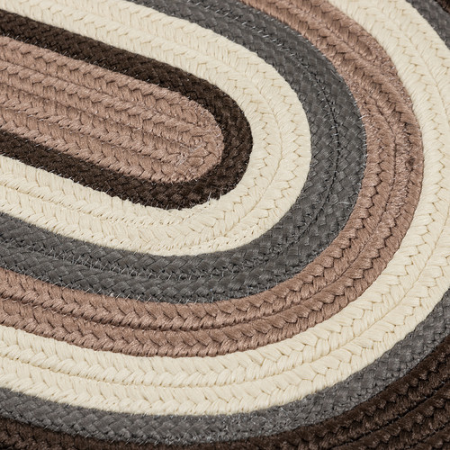 Colonial Mills Brooklyn Brownstone Braided Indoor/Outdoor Area Rug