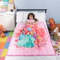 "Disney Princesses Kids Weighted Blanket, Super Soft Plush Bedding, 36"" x 48 4.5lbs, Pink"
