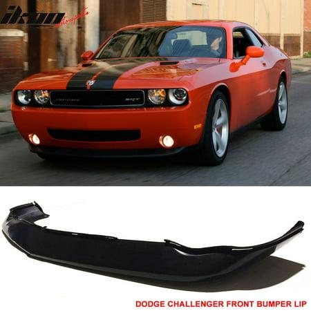 - Fits 08-10 Dodge Challenger MDP Style Front Bumper Lip - Polyurethane (PU)