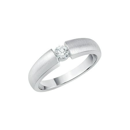 Channel Set Diamond Promise Ring in 10K White Gold (1/5 cttw, G-H, I2/I3) Channel Diamond Comfort Promise Ring